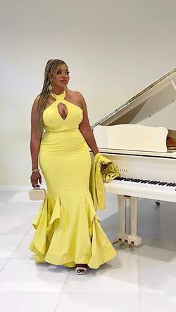 Yellow Size 14 A-line Dress on Queenly