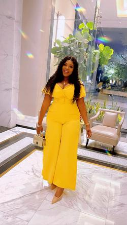 Yellow Size 14 Jumpsuit Dress on Queenly