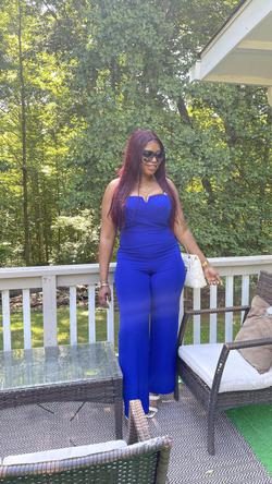 Blue Size 12 Jumpsuit Dress on Queenly