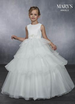 Style MB9041 Mary's White Size 00 Flower Girl Sequin Ball gown on Queenly