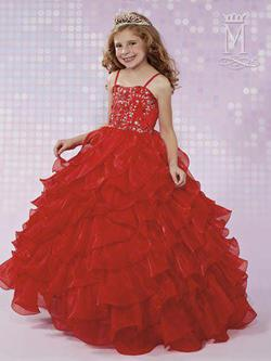 Style FP167 Mary's Red Size 00 Flower Girl Ball gown on Queenly