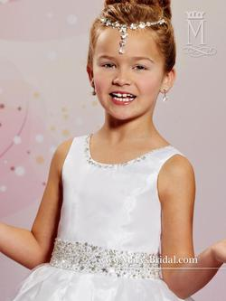 Style F484 Mary's White Size 00 Flower Girl Ball gown on Queenly