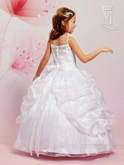Style F481 Mary's White Size 00 Flower Girl Ball gown on Queenly