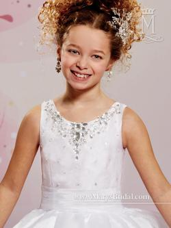 Style F477 Mary's White Size 00 Flower Girl Ball gown on Queenly