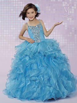 Style FP160 Mary's Blue Size 00 Flower Girl Ball gown on Queenly