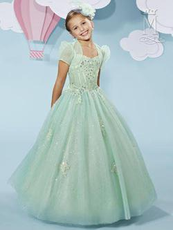 Style F515 Mary's Green Size 00 Tulle Flower Girl Ball gown on Queenly