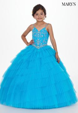 Style MQ4006 Mary's Pink Size 00 Tulle Ball gown on Queenly