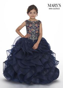 Style MQ4005 Mary's Blue Size 00 Tulle Ball gown on Queenly
