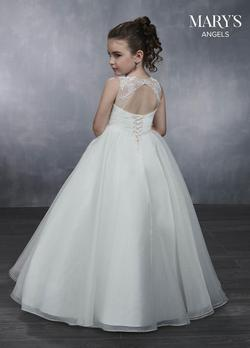 Style MB9042 Mary's White Size 00 Keyhole Ball gown on Queenly