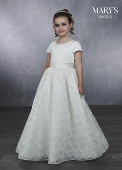 Style MB9040 Mary's White Size 00 Mini Flower Girl Ball gown on Queenly
