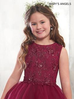 Style MB9006 Mary's Red Size 00 Flower Girl Ball gown on Queenly