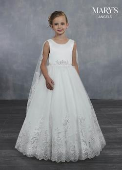 Style MB9046 Mary's White Size 00 Ivory Ball gown on Queenly