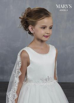 Style MB9046 Mary's White Size 00 Girls Size Ball gown on Queenly