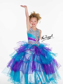 Style 81807S Mac Duggal Purple Size 00 Halter Ball gown on Queenly