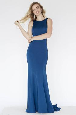 Style E80031 Kimberly's Exclusive Blue Size 6 Sorority Formal Backless Teal Mermaid Dress on Queenly