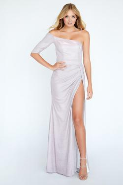 Style E20026 Kimberly's Exclusive Light Pink Size 10 Pageant Jersey Side slit Dress on Queenly