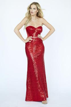 Style E90000 Kimberly's Exclusive Red Size 4 Pageant Mermaid Dress on Queenly