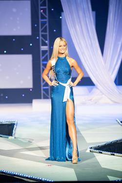 Sherri Hill Blue Size 0 Fully-beaded Short Height Side slit Dress on Queenly