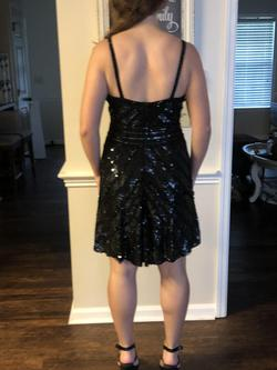Sherri Hill Black Size 8 Sorority Formal Flare Homecoming Cocktail Dress on Queenly