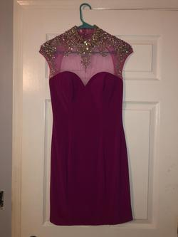 Hannah S Purple Size 6 Mini Cocktail Dress on Queenly