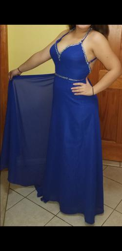 Blue Size 10 Train Dress on Queenly