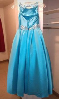 Tiffany Designs Light Blue Size 6 Ball gown on Queenly