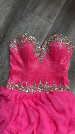 Johnathan Kayne Hot Pink Size 8 Polyester Pageant Ball gown on Queenly