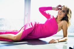 Jovani Hot Pink Size 2 Jersey Interview Side Slit Jumpsuit Dress on Queenly