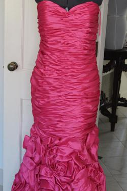 Jovani Hot Pink Size 6 Polyester Mermaid Dress on Queenly