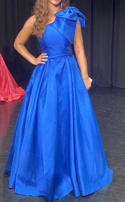 Jovani Royal Blue Size 2 Winter Formal Pageant Ball gown on Queenly