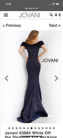 Jovani Black Size 4 Tall Height Mermaid Train Dress on Queenly