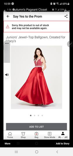 Say Yes To The Dress Red Size 8 Pageant A-line Dress on Queenly