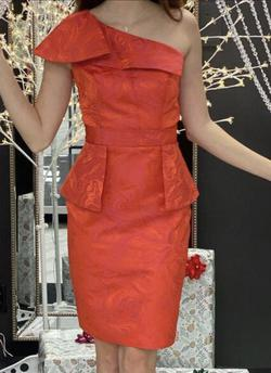 Fernando Wong Red Size 6 Bodycon One Shoulder Cocktail Dress on Queenly
