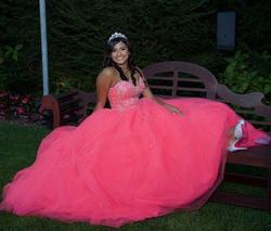 Morilee Hot Pink Size 8 Quinceanera Sweet 16 Ball gown on Queenly