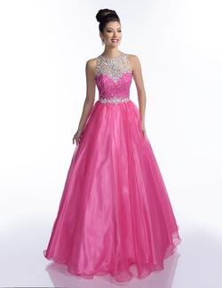 Style 16213 Envious Couture Hot Pink Size 16 Embroidery Pageant Ball gown on Queenly