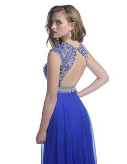 Style 16262 Envious Couture Royal Blue Size 8 Embroidery Pageant Straight Dress on Queenly