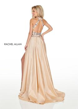 Style 7135 Rachel Allan Gold Size 2 Embroidery Fun Fashion Jumpsuit Dress on Queenly
