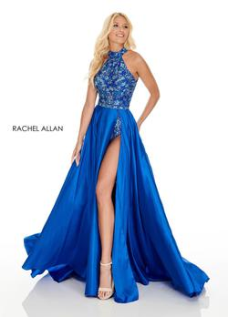 Style 7135 Rachel Allan Royal Blue Size 4 Fun Fashion Jumpsuit Dress on Queenly