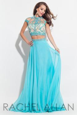 Style 2060 Rachel Allan Light Blue Size 2 Beaded Top Embroidery Straight Dress on Queenly
