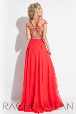 Style 2060 Rachel Allan Red Size 6 Prom Straight Dress on Queenly