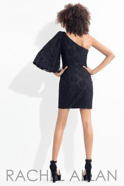 Style L1136 Rachel Allan Black Size 4 Wedding Guest Sorority Formal Homecoming Cocktail Dress on Queenly