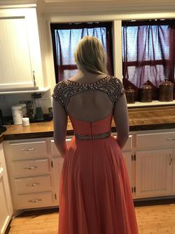 Sherri Hill Orange Size 2 Coral Straight Dress on Queenly