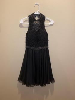 Sherri Hill Black Size 4 Flare Homecoming Cocktail Dress on Queenly