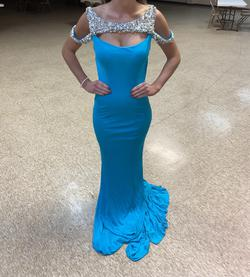 Ashley Lauren Blue Size 2 Pageant Straight Dress on Queenly