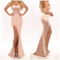 Portia & Scarlett Pink Size 10 Mermaid Side Slit Straight Dress on Queenly