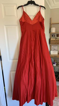Camille La Vie Red Size 14 V Neck A-line Dress on Queenly