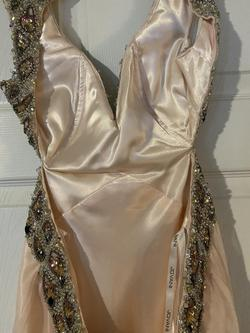 Jovani Light Pink Size 8 Straight Dress on Queenly