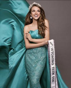 Sherri Hill Blue Size 2 Pageant Teal Custom Mermaid Dress on Queenly