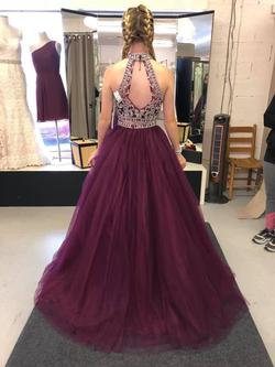 Sparkle Multicolor Size 0 Pageant Burgundy Short Height Ball gown on Queenly
