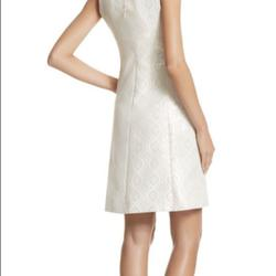 White house black market White Size 0 Wedding Guest Sorority Formal Mini Cocktail Dress on Queenly